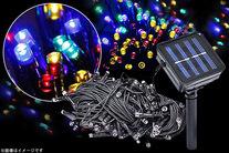 ソーラーパネル充電式!!「LEDソーラーイルミネーションライト」