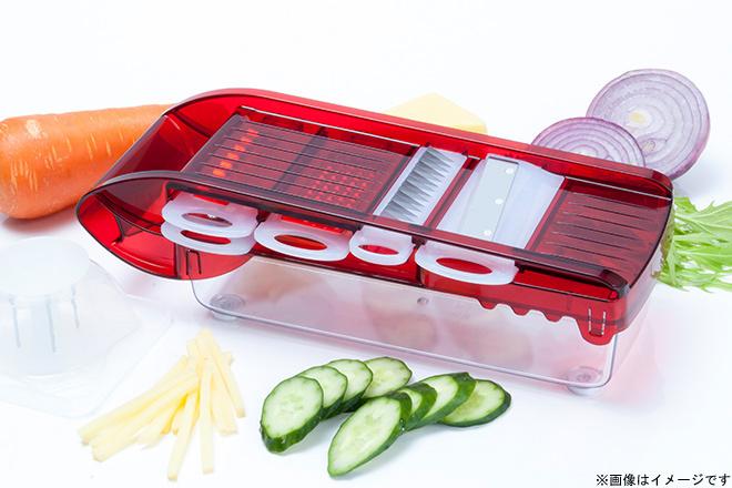 Sun Stage 48%OFF【2,980円】≪☆送料無料☆5種のスライサーアタッチメントを内蔵!!一台で多彩な切り方ができる「ジャストインスライサー」毎日のお料理を快適に♪≫