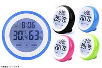 【1,080円】≪☆送料無料☆タッチスクリーンでスマートに操作が可能!機能は時計、アラーム、湿度計と充実してます☆「タッチセンサー温湿度...