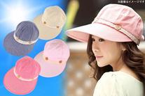 63%OFF【900円】≪☆送料無料☆2WAY仕様、帽子として、サンバイザーとしてシーンによって使い分けができます。ツバ広なのでしっかり...