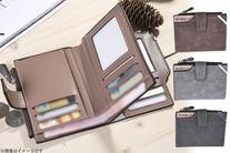 【1,080円】≪☆送料無料☆コンパクトなのに大容量、メンズ二つ折り財布です「ヴィンテージ風二つ折り財布」≫