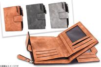 【1,080円】≪☆送料無料☆コンパクトなメンズ二つ折り財布★カードもたっぷり収納できます♪3色から選択可能「ヴィンテージ風二つ折り財布...