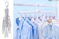 【1,980円】≪☆送料無料☆忙しい主婦の味方★等間隔にTシャツやYシャツが干せ、ワンタッチで取り外しできるので家事の時短に◎「折りたた...