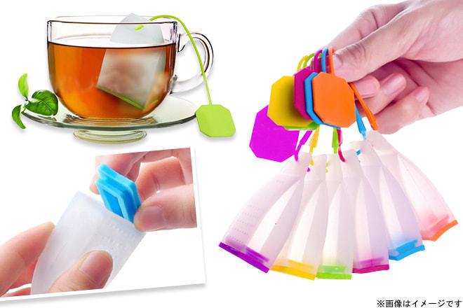 BILA Beauty 61%OFF【1,000円】≪☆送料無料☆急須を使わなくても手軽にお茶を楽しめる♪何度でも使用可能なので経済面も◎みんなでお茶を愉しもう☆「シリコンティーバッグ3個セット(カラーお任せ)」≫